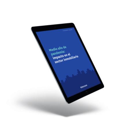 Portada de un informe de Fotocasa en una tablet