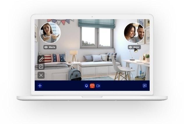 Portátil que muestra un ejemplo de Visita Virtual Guiada